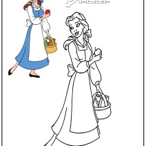 Belle la Principessa Disney da colorare - Disegni da colorare