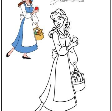 Belle la Principessa Disney da colorare - Cartoni animati