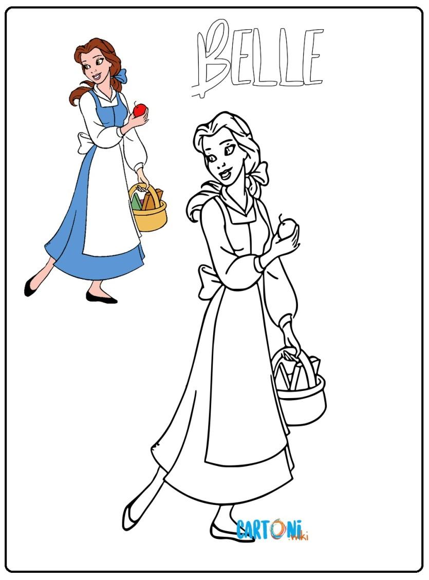 Belle La Principessa Disney Da Colorare Cartoni Animati