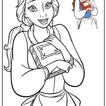 La Bella e la Bestia disegni da colorare - Stampa e colora