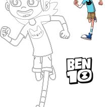 Colora Gwen di Ben 10 - Disegni da colorare