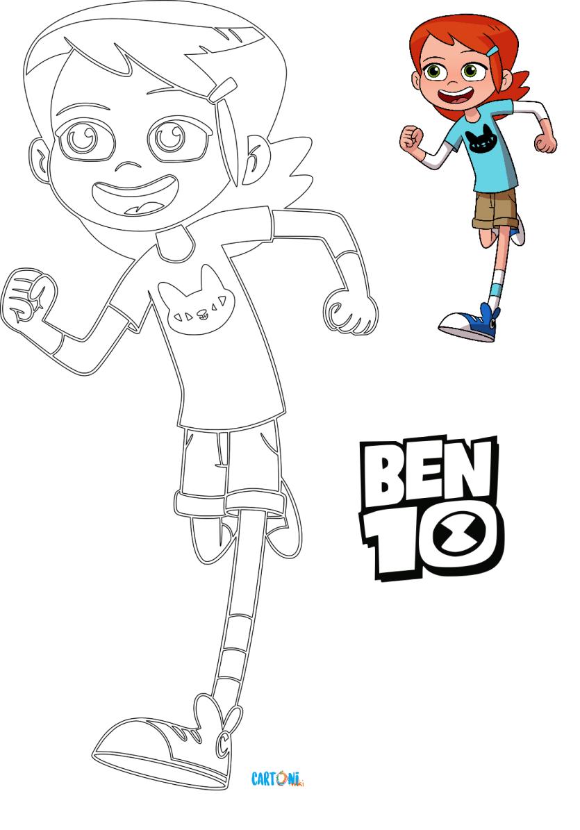 Colora gwen di ben 10 cartoni animati for Ben 10 immagini da colorare