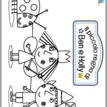 Colora il piccolo Regno di Ben e Holly - Disegni da colorare
