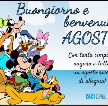 Benvenuto agosto con tanta simpatia - Cartoni animati