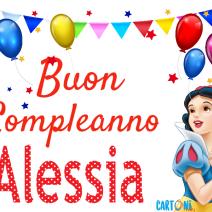 Buon Compleanno Alessia con Biancaneve - Alessia