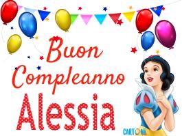 Buon Compleanno Alessia con Biancaneve