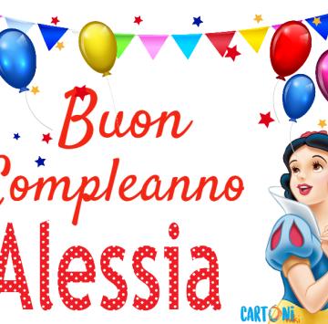 Buon Compleanno Alessia con Biancaneve - Cartoni animati