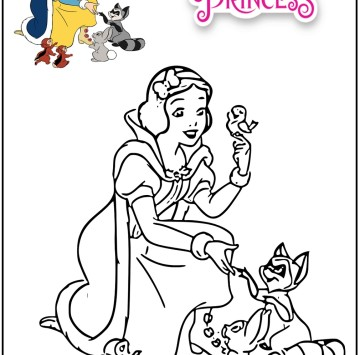 Biancaneve disegni da colorare - Cartoni animati