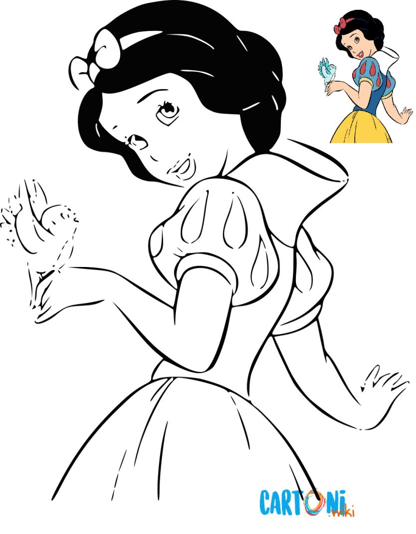 Colora Biancaneve Cartoni Animati