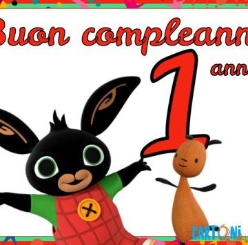 Bing buon compleanno 1 anno - Cartoni animati