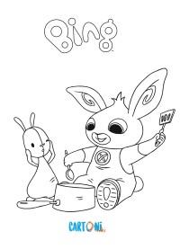 Coniglietto Bing da colorare - Disegni da colorare