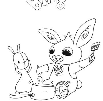 Coniglietto Bing da colorare - Cartoni animati
