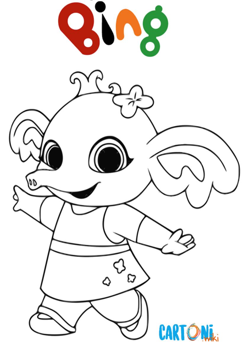 Disegni bing da colorare cartoni animati for Cartoni animati da stampare e colorare