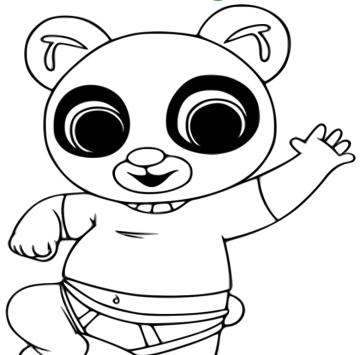 Bing da colorare -  Colora Pando - Cartoni animati