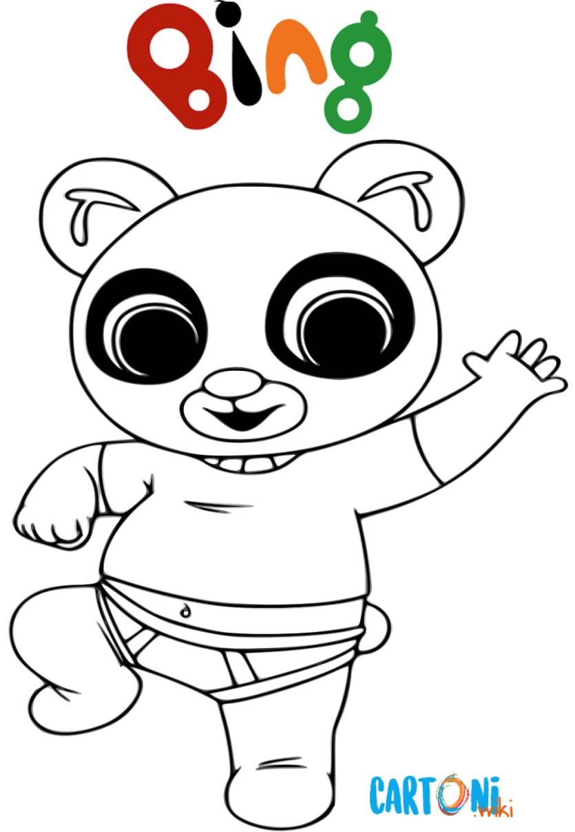 Bing da colorare colora pando cartoni animati
