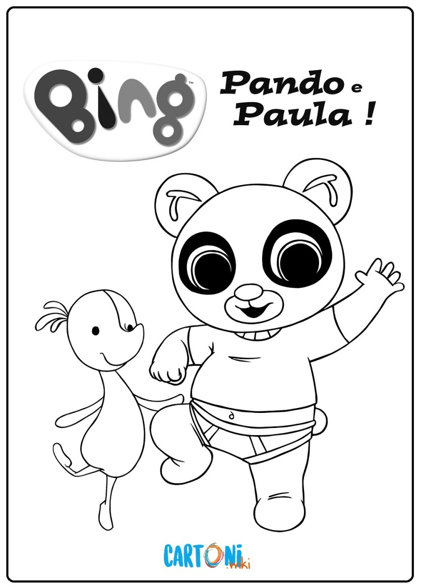 Pando E Paula Disegni Da Colorare Bing Cartoni Animati