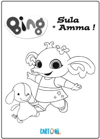 Bing disegno Sula e Amma - Stampa e colora