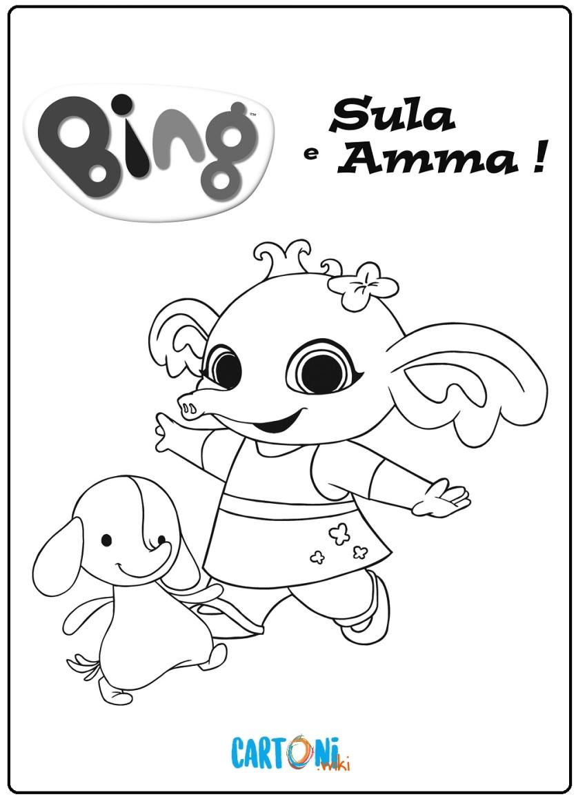 Bing Disegno Sula E Amma Cartoni Animati