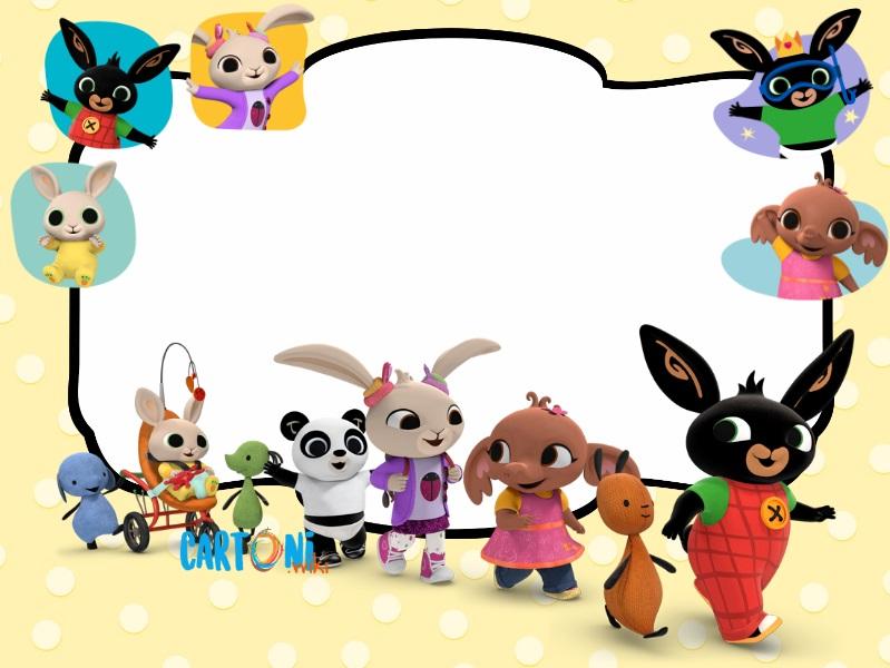 Bing bunny party invitations - Cartoni animati