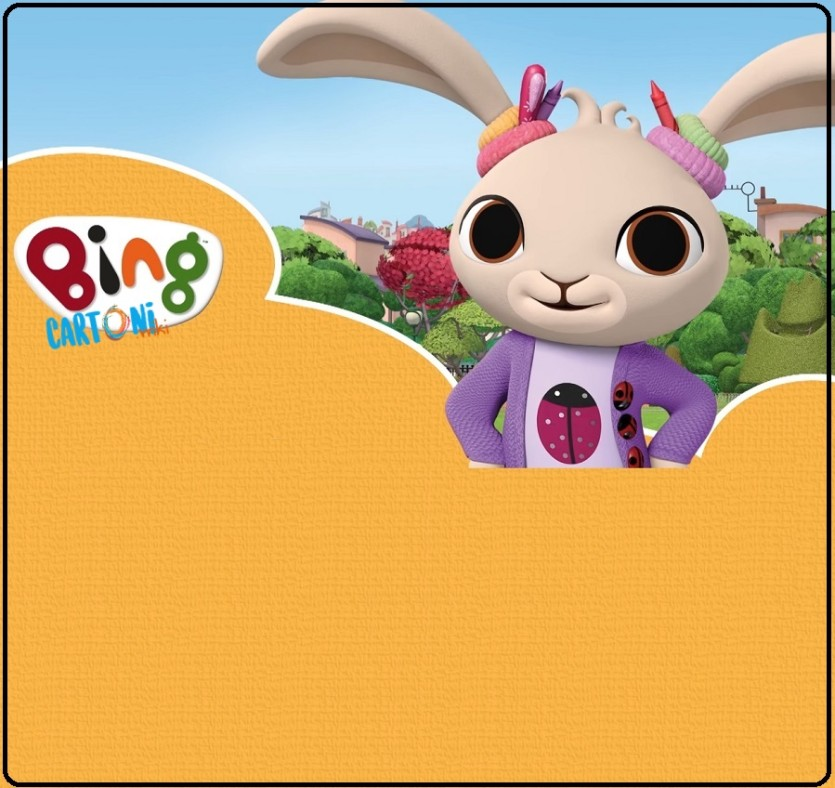 Bing cartone invito festa con Coco - Cartoni animati
