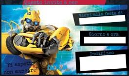Bumblebee invito compleanno