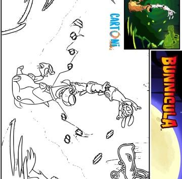 Colora Bunnicola Harold e Chester - Cartoni animati