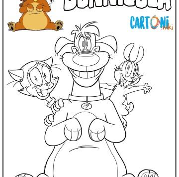 Bunnicula disegno da colorare con i personaggi - Cartoni animati