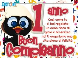 Buon compleanno 1 anno con Calimero