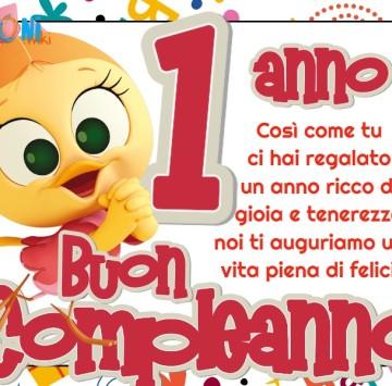 Buon compleanno 1 anno con Priscilla - Cartoni animati