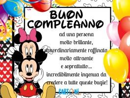 Buon compleanno ad una persona speciale