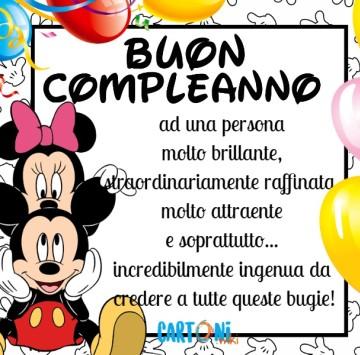 Buon compleanno ad una persona speciale - Cartoni animati