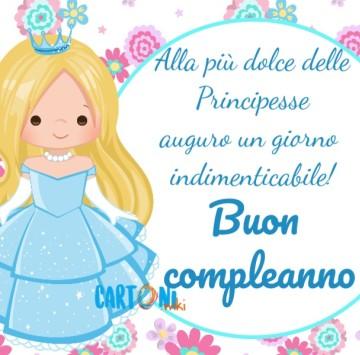 Buon compleanno alla più dolce delle principesse - Cartoni animati