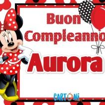 Buon compleanno Aurora - Buon compleanno