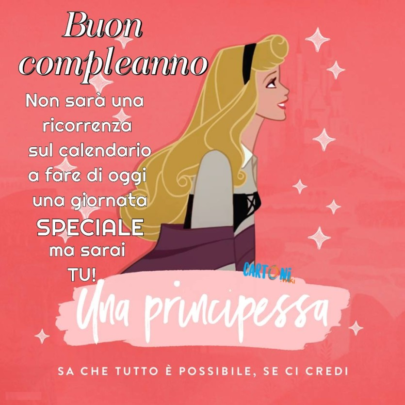 Buon Compleanno con la Principessa Aurora - Cartoni animati