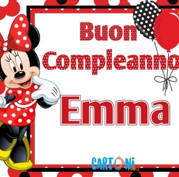Auguri di buon compleanno Emma - Cartoni animati