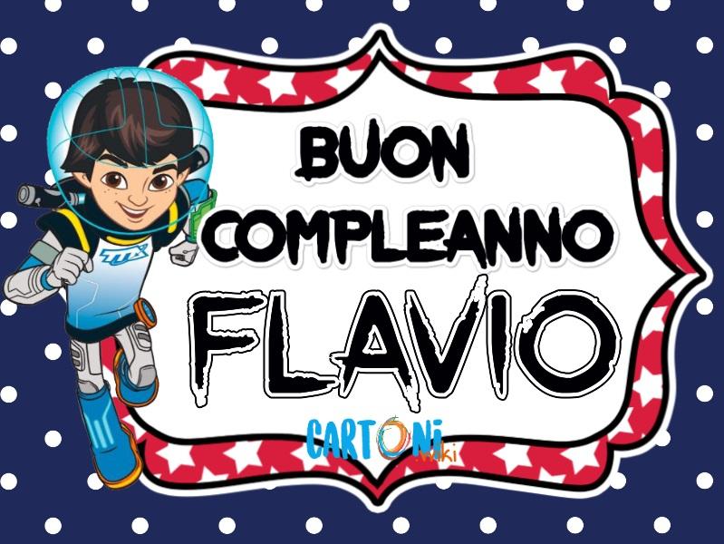 Buon compleanno Flavio - Cartoni animati