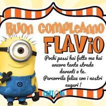 Buon compleanno Flavio con i Minions - Buon compleanno