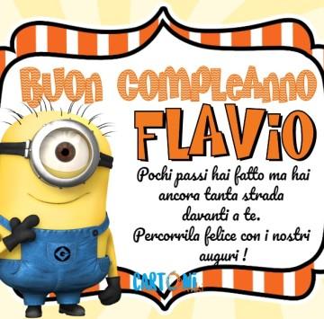 Buon compleanno Flavio con i Minions - Cartoni animati