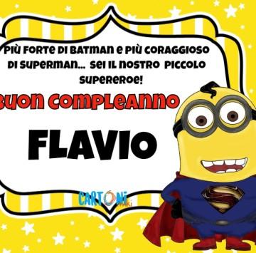 Buon compleanno Flavio piccolo supereroe - Cartoni animati