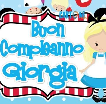Buon compleanno Giorgia - Cartoni animati