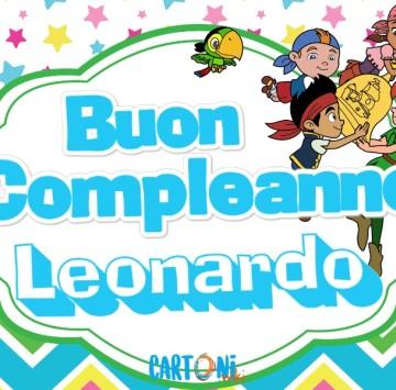 Buon compleanno Leonardo - Cartoni animati