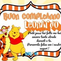 Buon compleanno Leonardo con Winnie The Pooh - Buon compleanno