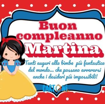 Buon compleanno Martina - Cartoni animati