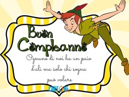 Buon compleanno con Peter Pan