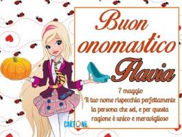 Buon onomastico Flavia