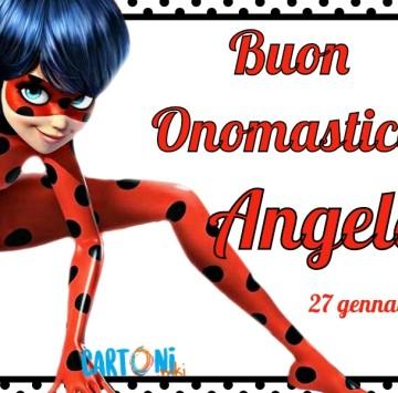 Buon onomastico Angela - Cartoni animati