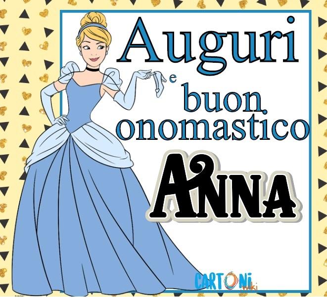 Auguri e buon onomastico Anna - Cartoni animati