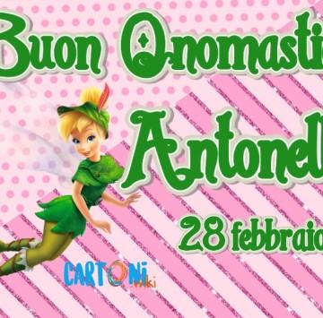 Buon onomastico Antonella - Cartoni animati