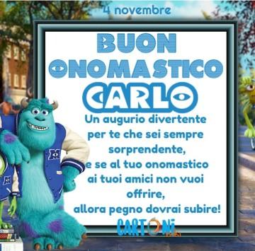 Buon onomastico Carlo - Cartoni animati