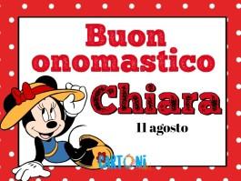Buon Onomastico Chiara